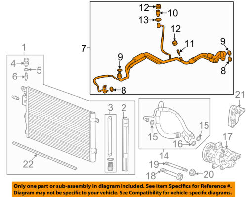 Compressor Lines-Evaporator Tube 23241665 GM OEM A//C Condenser