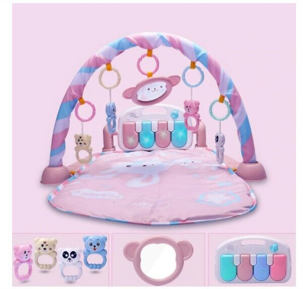 Baby Activity Gym Music Play Mat Fitness Educational Rack Crib Baby Rattle A140