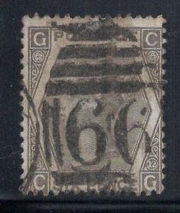 Gran-Bretagna-1873-MER-39-timbrato-60-6-pence-Regina-Vittoria-G-C