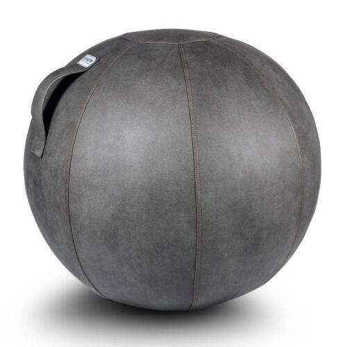 VLUV Sitzball VEEL Lederimitat 65 cm schlamm