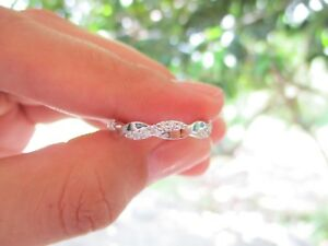 .16 Carat Diamond White Gold Infinity Ring 14k codeHE33 sepvergara (MTO)