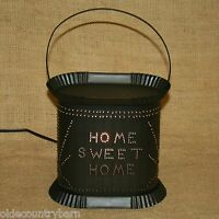 Home Sweet Home Electric Tart Warmer Punched Tin