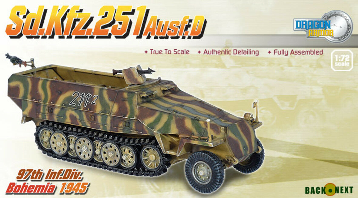 DRAGON ARMOR 1 72,    TRÈS RARE    GERMAN Sd.Kfz.251 Ausf. D, Art.  60235