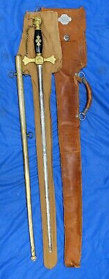 1900s Massachusetts Fraternal Sword with Scabbard and Bag