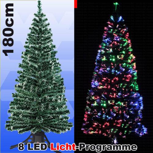 LED Weihnachtsbaum Grün 180 cm farbwechselnde Glasfaser Tannenbaum 2020