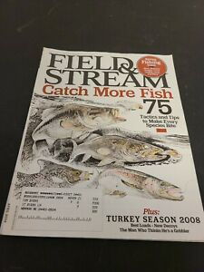 Vintage Field & Stream Magazine April 2008 East Edition Complete