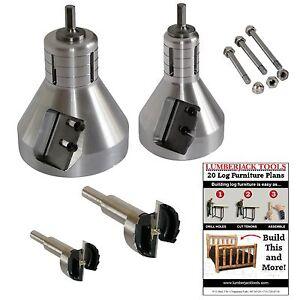Details about Log Furniture Starter Kit 60 degree tenon cutter set, ISK2N,  Lumberjack Tools