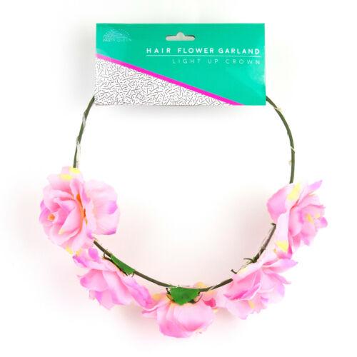 Leuchtender Blumen Haarreif