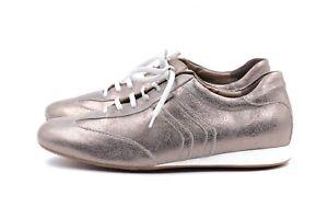MEPHISTO Sneakers Gr. 38,5 UK 5,5 Bronze Leder Echtleder