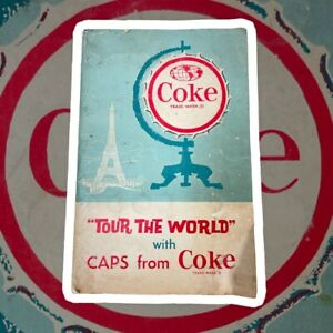 Vintage 1960's Tour the World with CAPS from Coke Coca Cola Tops Collection Book