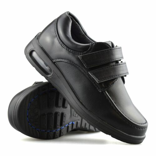 Boys Kids New Smart Formal Casual Touch Strap Back To School Trainers Shoes Size