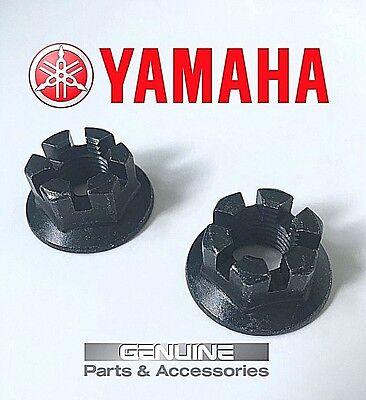 2 Rear Axle Hub Castle Crown Nut 14mmX1.50 Compatible with Yamaha 2008-2013 Raptor 250 YFM250