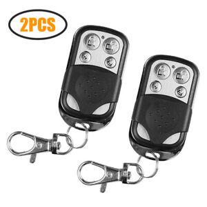 1//2PCS Chamberlain Key Chain Remote Garage Door Opener Transmitter Learn Button