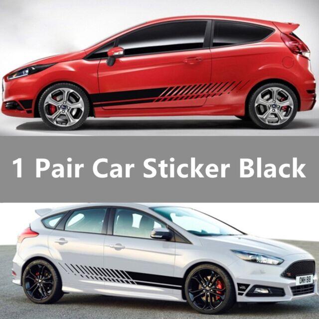 57be5e9585 2pcs Racing Stripe Graphic Stickers Car Body Side Door Vinyl Decals  Universal