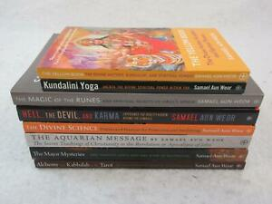 Lot-of-8-books-by-SAMAEL-AUN-WEOR-KUNDALINI-KABBALAH-RUNES-YOGA-More