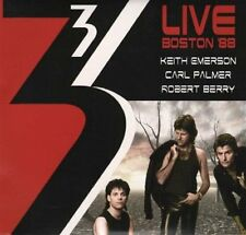 Keith Emerson/Carl Palmer/Robert Berry 3 Live Boston '88 2-CD NEW SEALED 2016