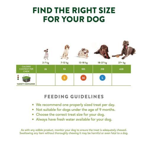 Whimzees Natural Dental Dog Treats Chews Variety Small Medium Large Box Pack NEW