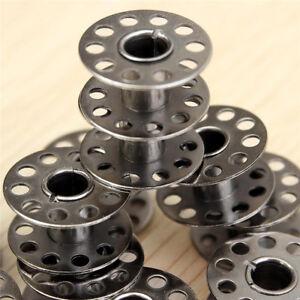 5 Bobines Canette en Metal Pour Fil de Machine à Coudre canettes