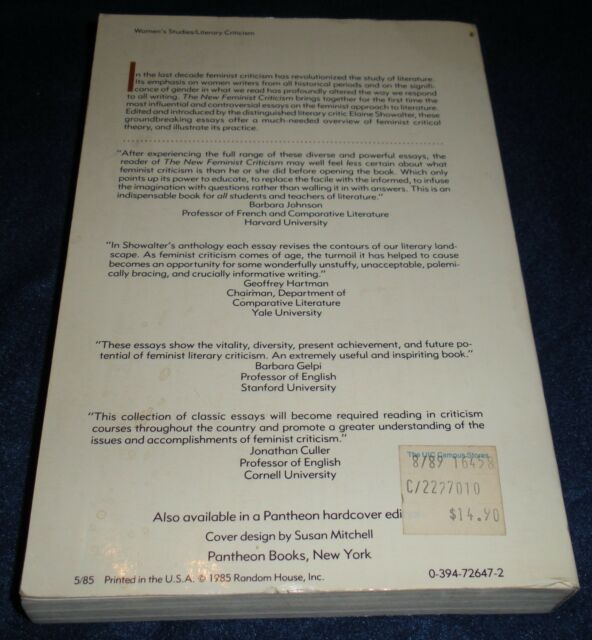 Into The Wild Essay Thesis The New Feminist Criticism  Essays On Women Literature And Theory By  Elaine Showalter  Paperback  Ebay Proposal Argument Essay Topics also Global Warming Essay Thesis The New Feminist Criticism  Essays On Women Literature And Theory  How To Start A Synthesis Essay