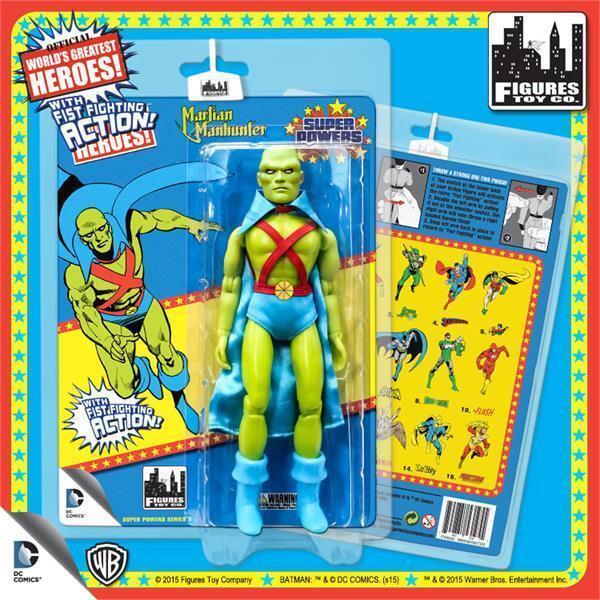 DC Retro Mego Kresge Style Super Powers Martian Manhunter Action Figure