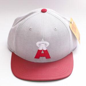 Los-Angeles-Angels-Gray-Red-White-Flat-Brim-Adjustable-Snap-Back-Baseball-Cap