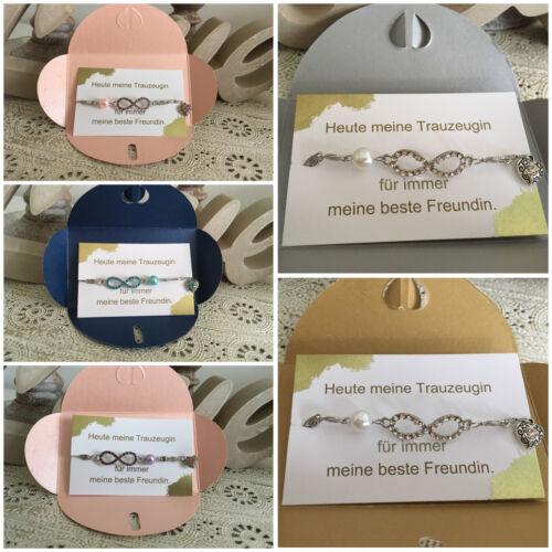 Trauzeugin Geschenk Hochzeit Perlen Fußkette Brautjungfer Beste Freundin Braut Ebay