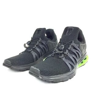 Nike Shox Gravity Luxe Running Shoes Blk Blk Blk Green Strike AR1470 ... 1902778bc