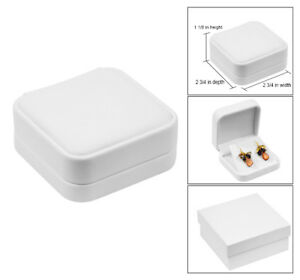 White Leather Earring Jewelry Gift Box Pendant Gift Box Leather