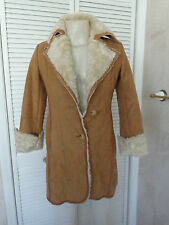 Women's Faux Suede Coat Tan by Mossimo Size Small