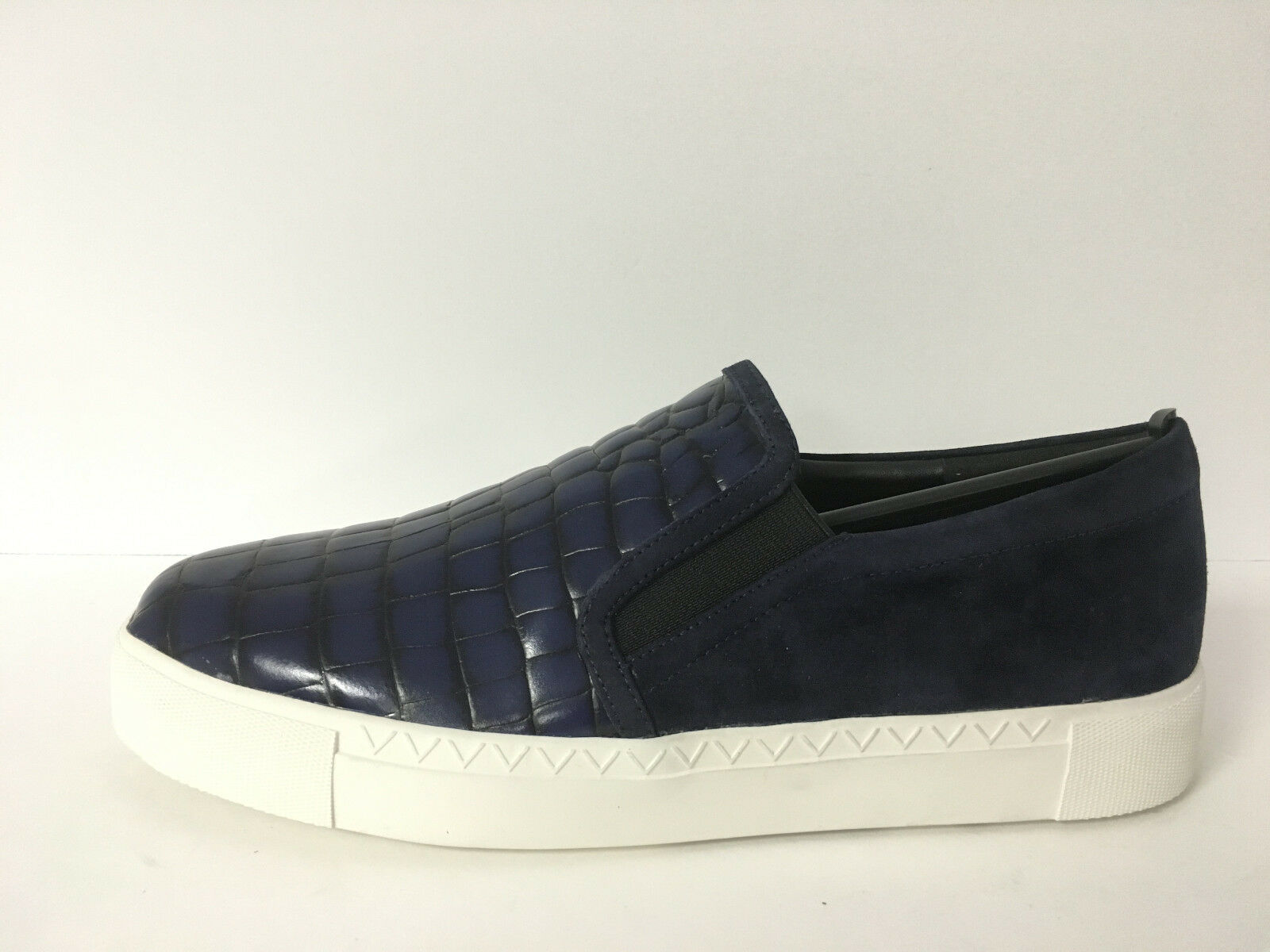 VIA SPIGA - MALIAH NAVY TWILIGHT CROC EMBOSSED SNEAKER SZ 10, RETAIL 195