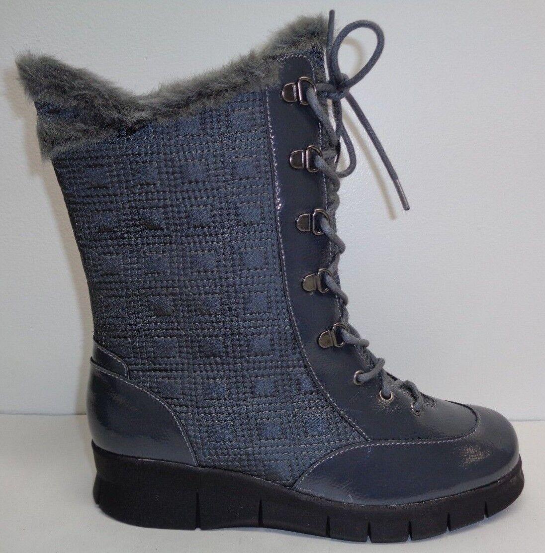 Aerosoles Größe 7 M ENAMEL Grau Combo Winter Memory Foam Stiefel NEU Damenschuhe Schuhes