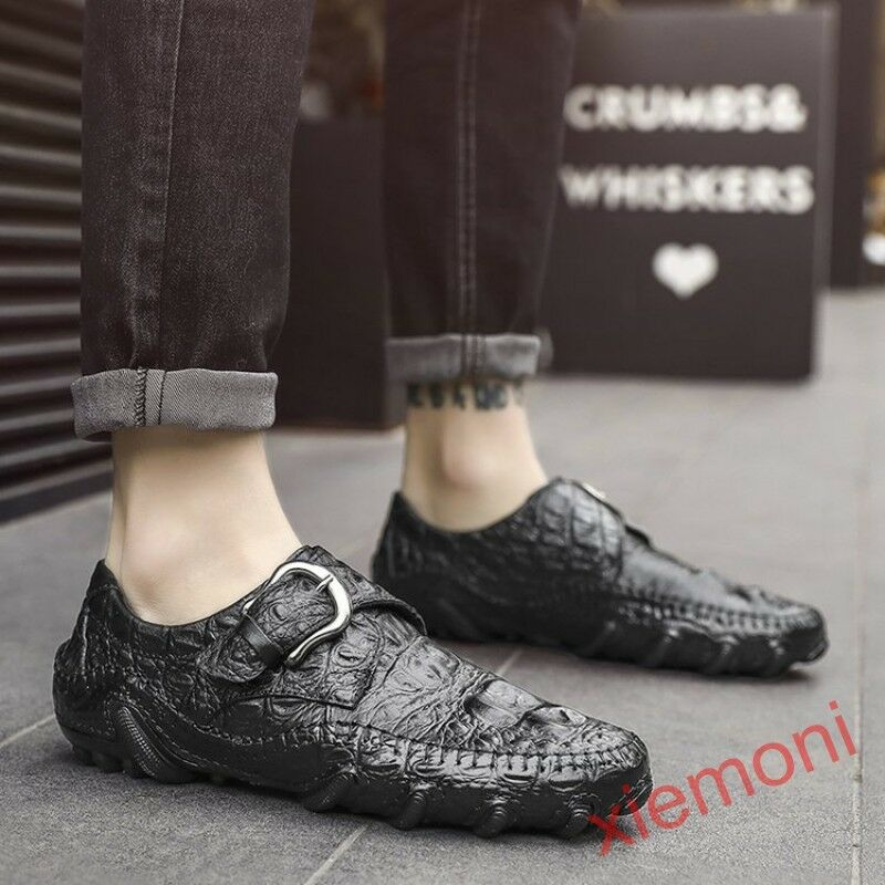 New Mens Moccasins Driving shoes Flats Slip On Loafers Gommino Alligator Pattern