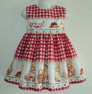 NEW Handmade Daisy Kingdom Teddy Bear Christmas Border Dress Deluxe 12M-14Yrs