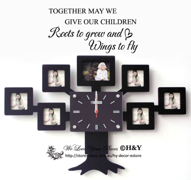 """""""Give Roots to grow and Wings to fly"""" Wall Quotes Kids Sticker Nursery Art Decor"""