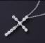 Collar-Cruz-De-Cristal-Colgante-de-placa-de-plata-esterlina-925-Cadena-De-Jesus-Damas-Nuevo miniatura 8