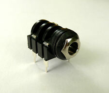 """1/4"""" Mono Switched PCB mounting Jack Socket for guitar audio amplifier Brass Nut"""