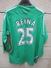 Maillot goal LIVERPOOL Adidas REINA n°25 camiseta shirt Carlsberg gardien but M