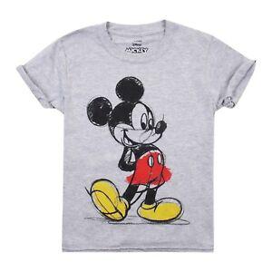 Disney-Mickey-Mouse-Ninos-T-Shirt-edades-7-12-oficial-con-licencia