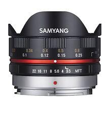 Samyang 7.5mm Fisheye F3.5 Manual Focus Lens for Micro 4/3 - Black olympus/pana