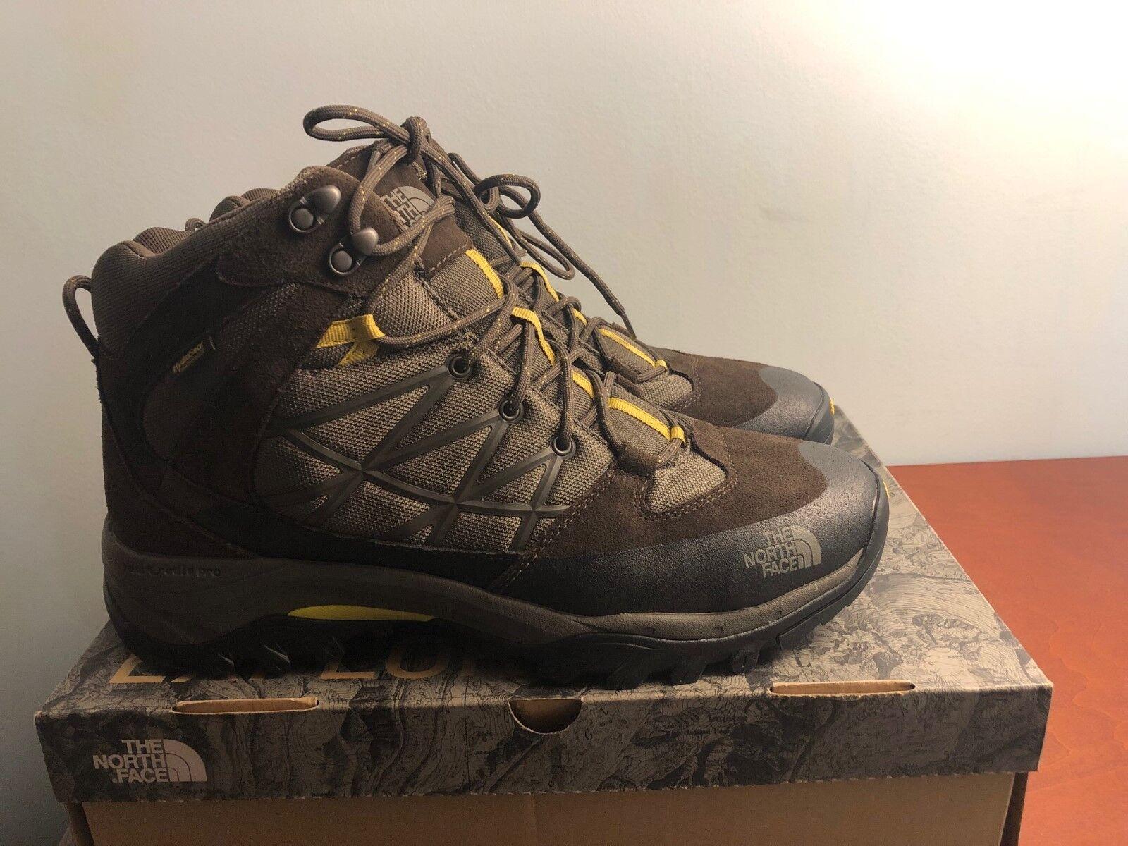 Nuevo The North Face Storm Mid WP Hombre Zapatos botas Para Excursionismo 12 M De Cuero Marrón Nuevo en Caja