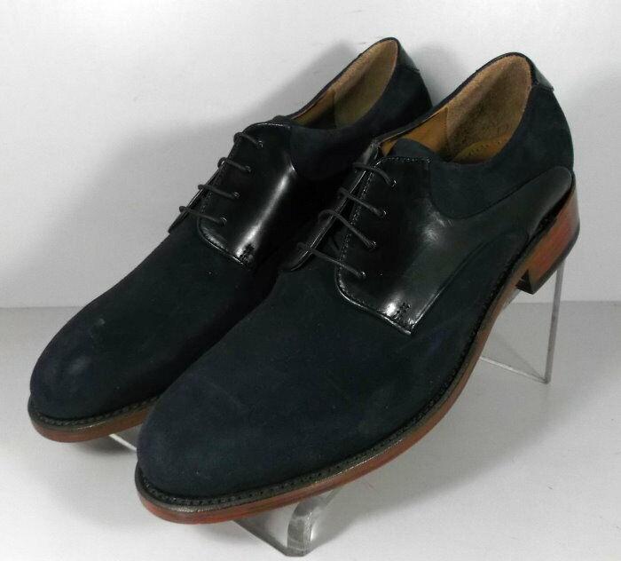 151747 SP50 Chaussures Hommes Taille 9 m en daim bleu marine lacets en cuir Johnston & Murphy