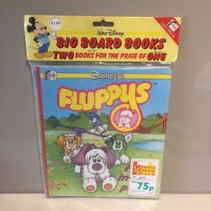 DISNEY Vintage Fluppys Fluppy Pups Dogs Board Book x2 BNIP RARE! 80s MLP