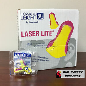 HOWARD LEIGHT LASER LITE LL-30 DISPOSABLE FOAM EAR PLUGS CORDED 100 PAIR/BOX