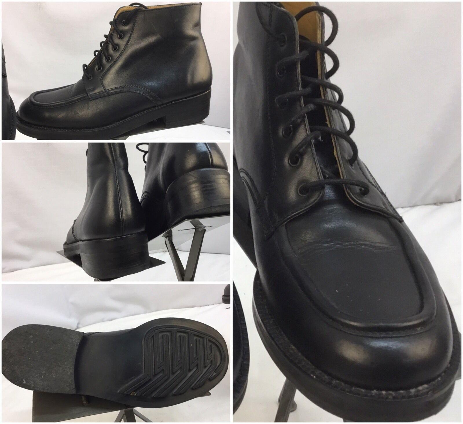 Cumbres Toltec Boots Sz 8 Men Black Leather
