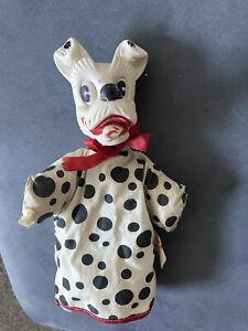 Vintage Original 1960s Gund 101 Dalmations Hand Puppet Dog Walt Disney Prod
