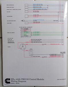 Cummins Laminated ISLe with CM2150 Control Module Wiring Diagram | eBayeBay