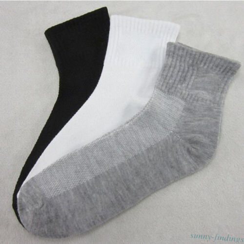5 Pairs Ankle Socks Low Cut Cotton Sock Business Breathable Hosiery Sport Gift