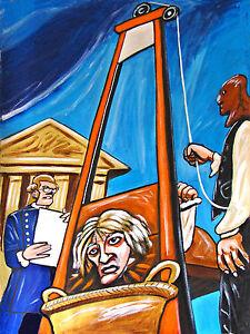 GUILLOTINE PRINT poster macabre french revolution paris versailles ...