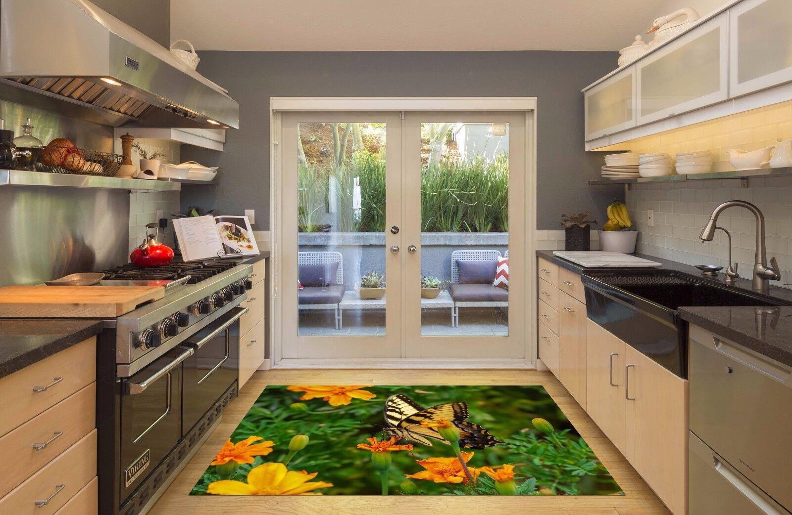 3D Farbe Butterfly Kitchen Mat Floor Mural Wall Print Wall Deco AJ WALLPAPER AU