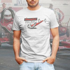 Champion-Speed-Shop-San-Francisco-Vintage-Retro-NHRA-Race-T-Shirt-or-Trucker-Hat